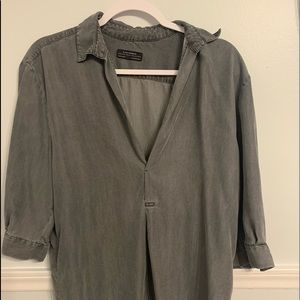 Zara Grey Oversized Blouse